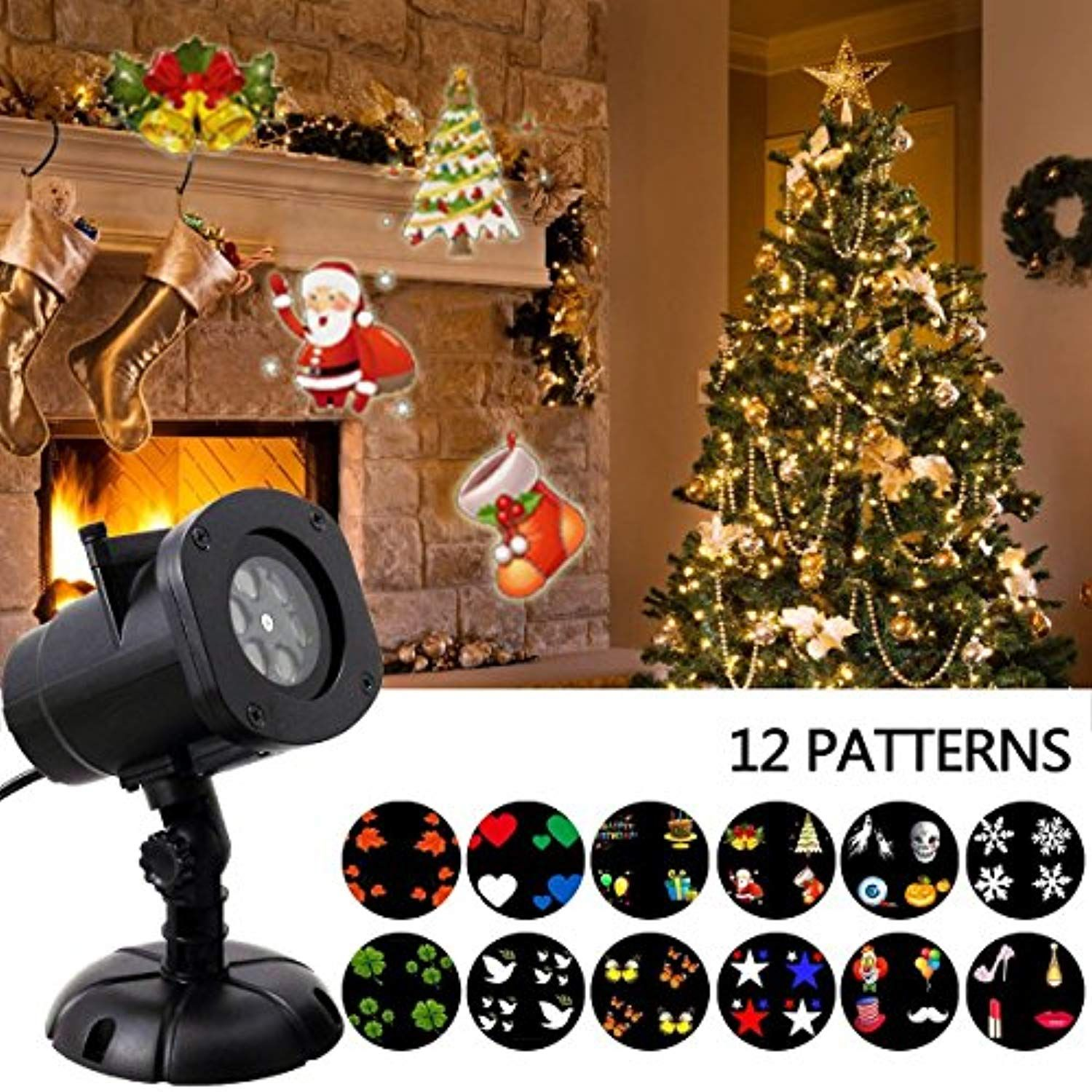 Christmas Light Projector Justup Led Landscape Projector Spotlight Patio Lawn Light With 12pcs Swit With Images Christmas Light Projector Lawn Lights Buy Christmas Lights