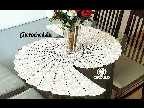 Camino o centro de mesa a crochet paso a paso muy f cil - Camino de mesa elegante en crochet ...