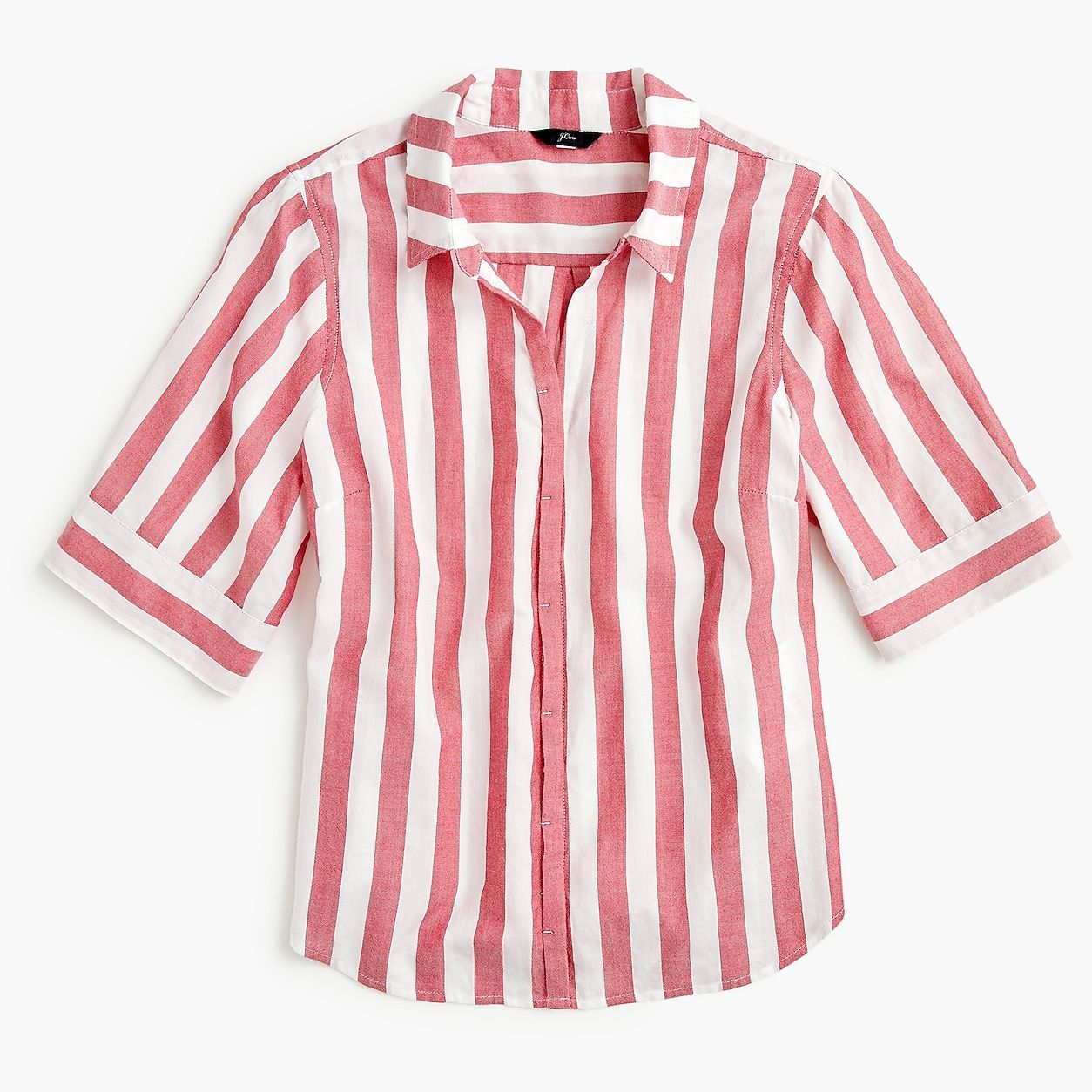 fa03653ca4a210 ... Women s Shirts. Petite Short-Sleeve Button-Up Shirt In Wide Stripe