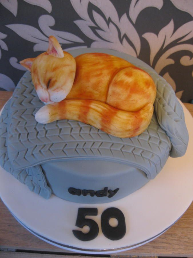 50th Ginger Cat Cake By Jenny Lofthouse Cats Witches Cakes