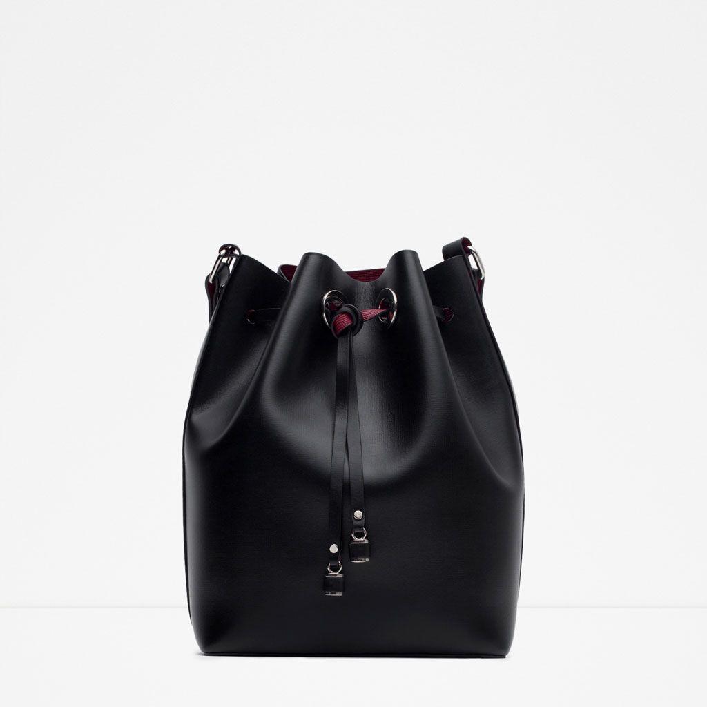 mini sac seau bandouli re tout voir sacs femme zara. Black Bedroom Furniture Sets. Home Design Ideas
