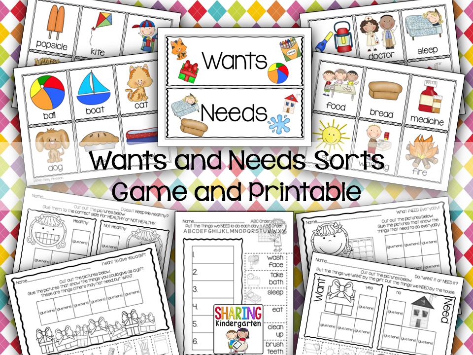 Wants And Needs With A Freebie Top Teachers