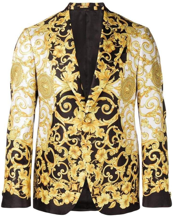 d548890ec9 Versace Baroque Print Blazer in 2019 | Products | Versace gold ...