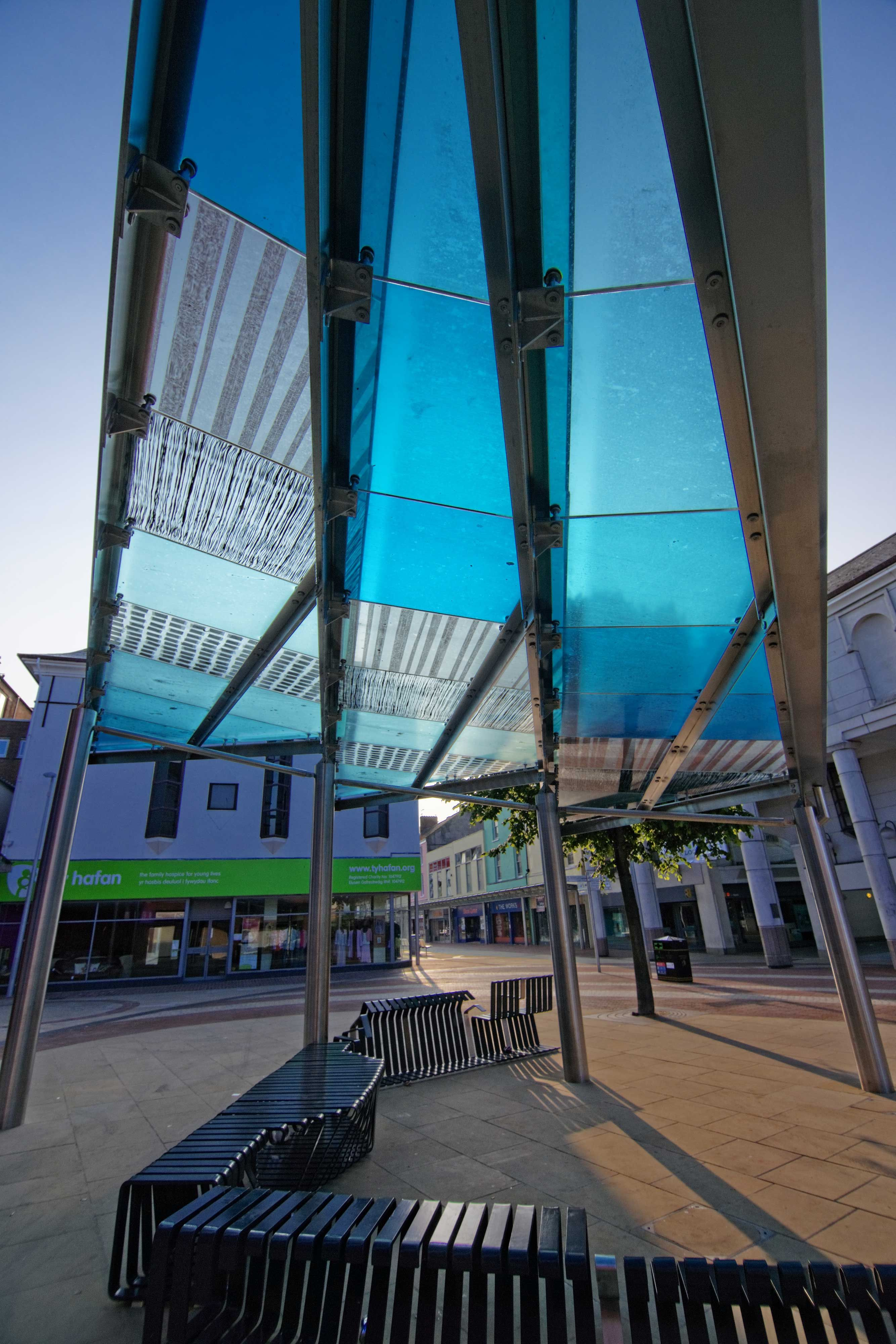 Glass Canopy Sculpture And Paved Area Part Of The Re