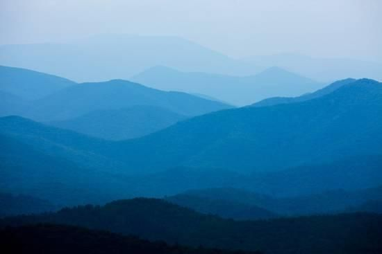 Blue Mountains, Blue Ridge Parkway, Virginia Photographic Print by Paul Souders | Art.com