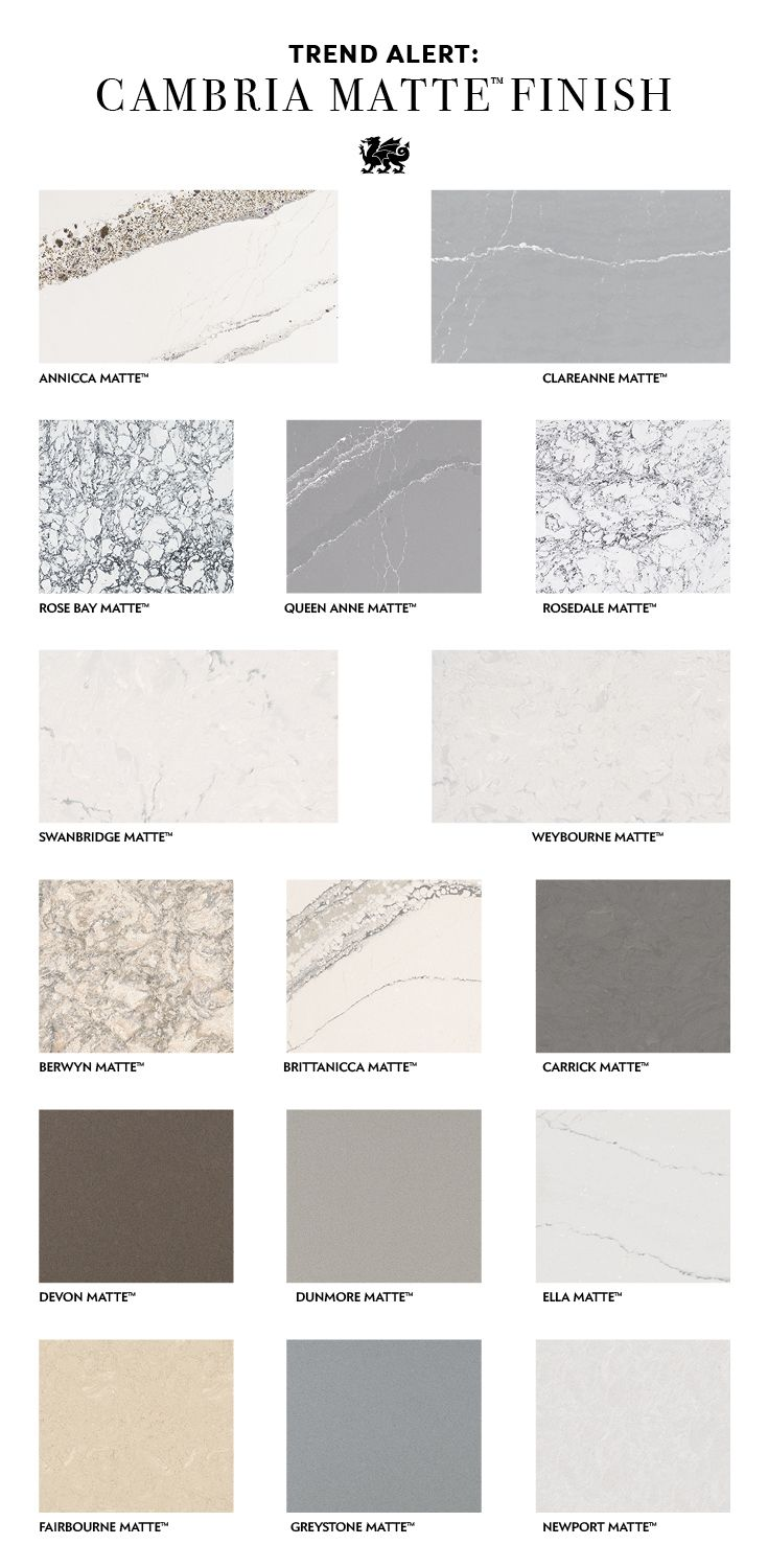 Rethink Your Kitchen Countertops With Cambria Matte Finish
