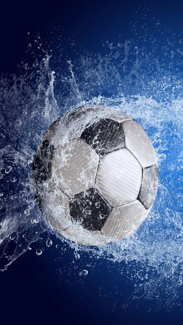 Football Soccer Ball Splash iPhone 5 Wallpaper Carteles