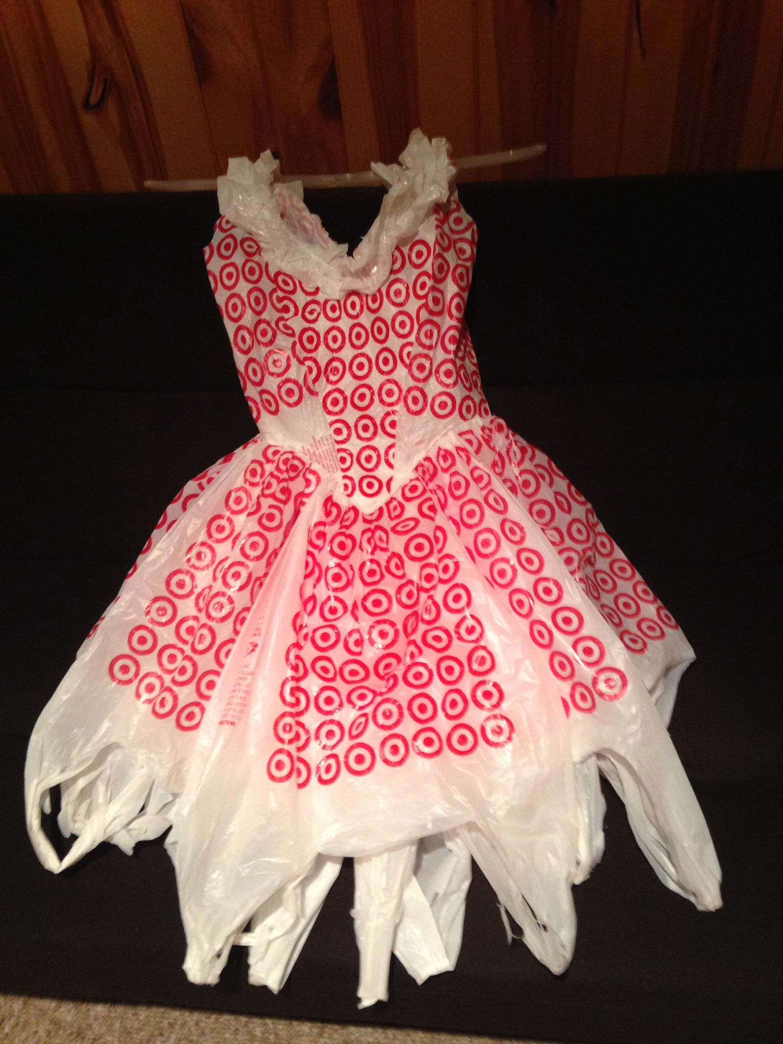 my 8 yr old made a target plastic bag dress just like this super women pinterest target. Black Bedroom Furniture Sets. Home Design Ideas