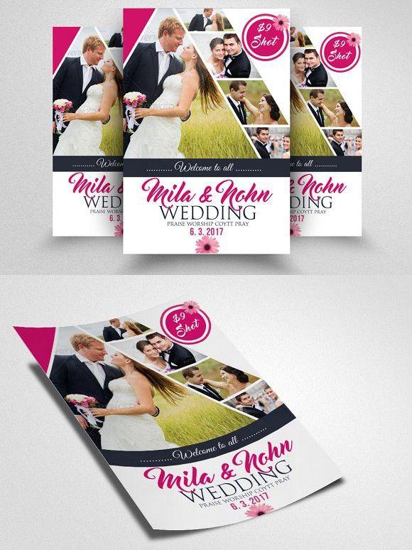 Elegant Wedding Flyer Template Wedding Card Templates  Wedding