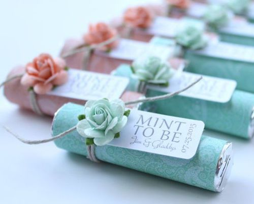 Edible Wedding Favor Idea With Mints