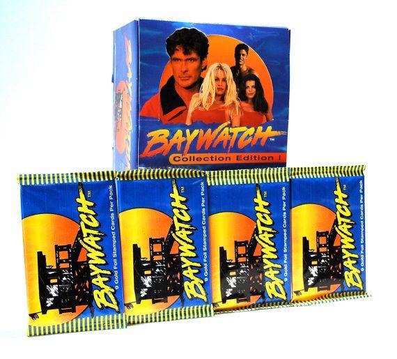4 Baywatch Trading Card Packs