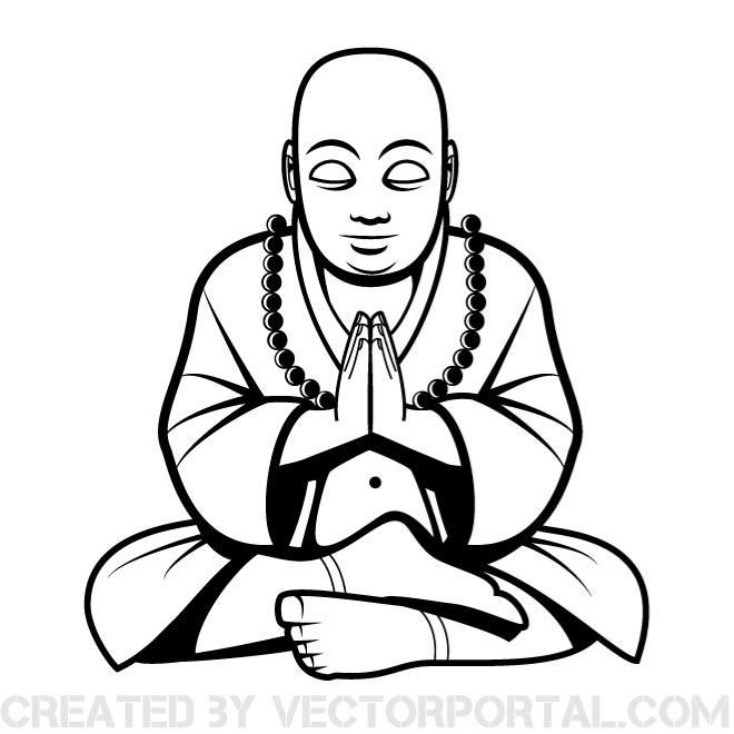 Buddha vector clip art. | Religious Free Vectors | Pinterest