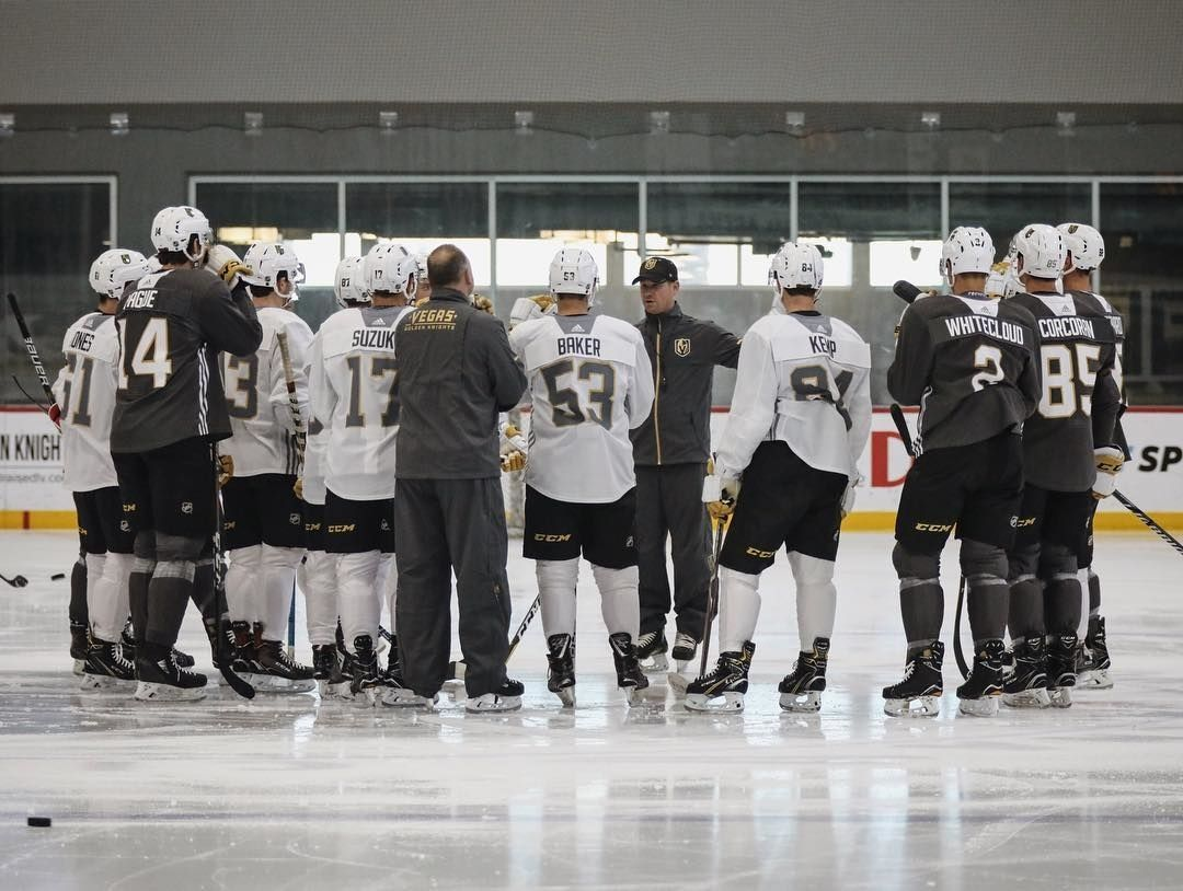 First day of development camp pres. by City National Bank  Follow us if you love the Golden Knights! ____________________________________________________________ #goldenknights #goldenknightshockey #goldenknightsfan #goldenknightsnation #goldenknightswin #goldenknightspride #goldenknightsfans #goldenknightsforever