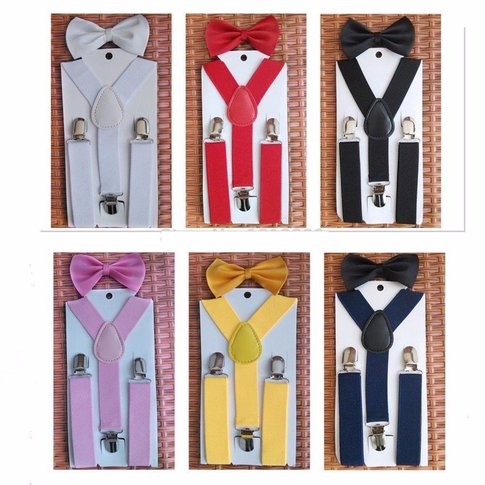 1919587b Tirantes, Suspenders & Moños Unisex Para Niños. Originales ...