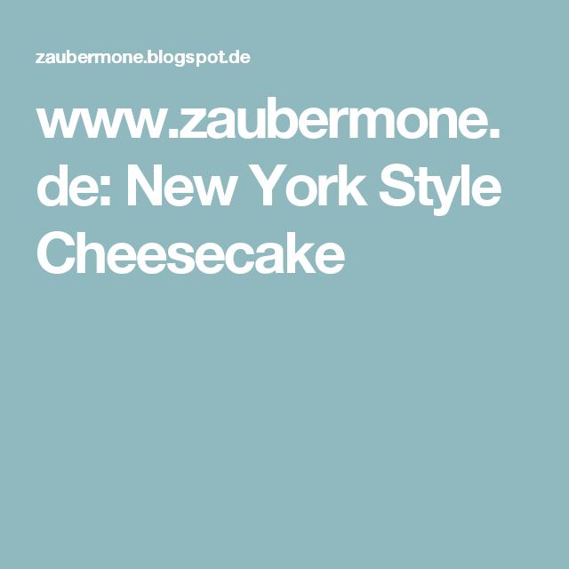 www.zaubermone.de: New York Style Cheesecake