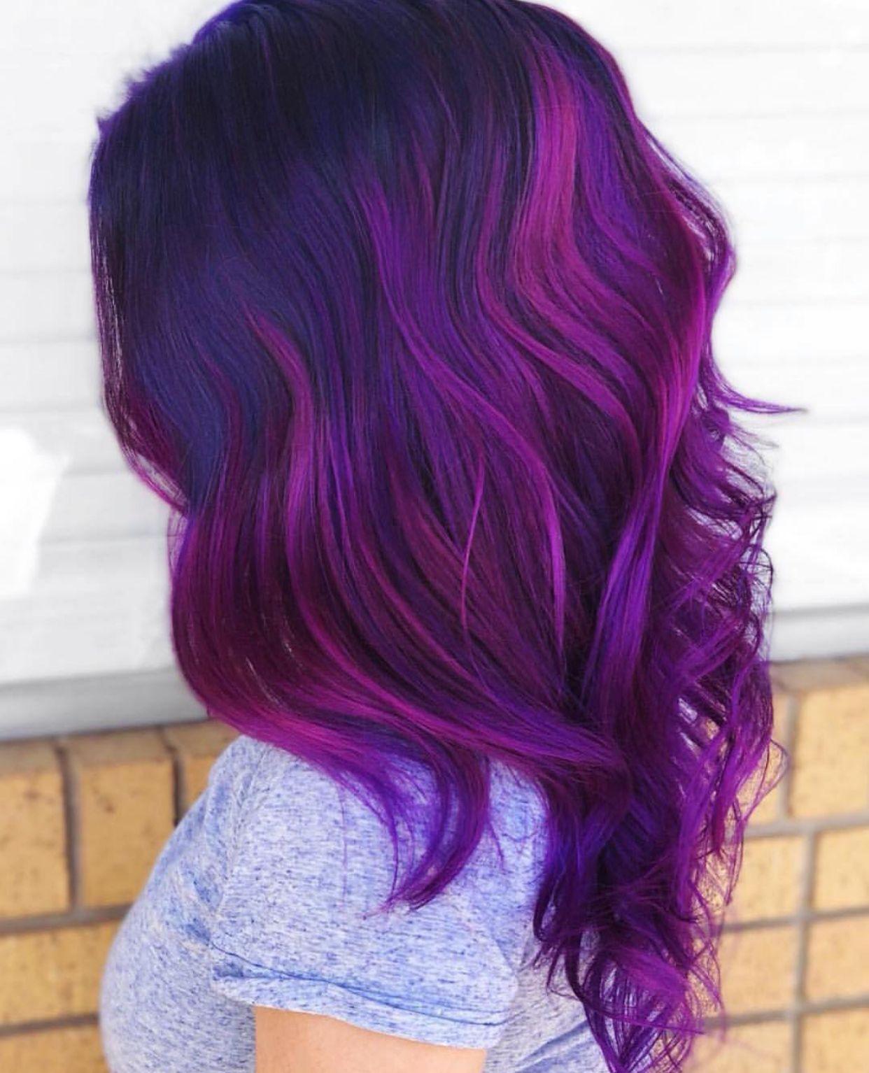 63 Purple Hair Color Ideas To Swoon Over Violet Purple Hair Dye Tips: Pin By Katlynn Thornton On Hair Dye
