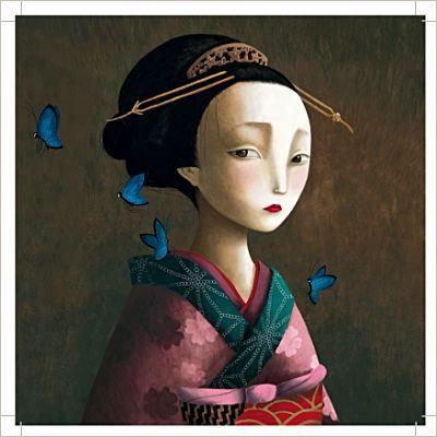 Del libro Los amantes mariposa, ilustrado por Benjamin Lacombe. Precioso.
