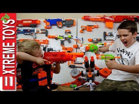 "Nerf Gun Battle! ""Ultimate Nerf Rival Khaos Blaster"" Ethan Vs. Cole Nerf Gun  Attack! Round 4"