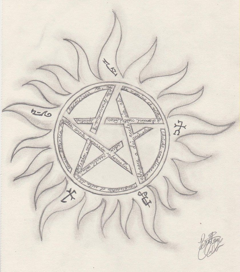 I Love The Show Supernatural And I Wanted To Draw This Symbol