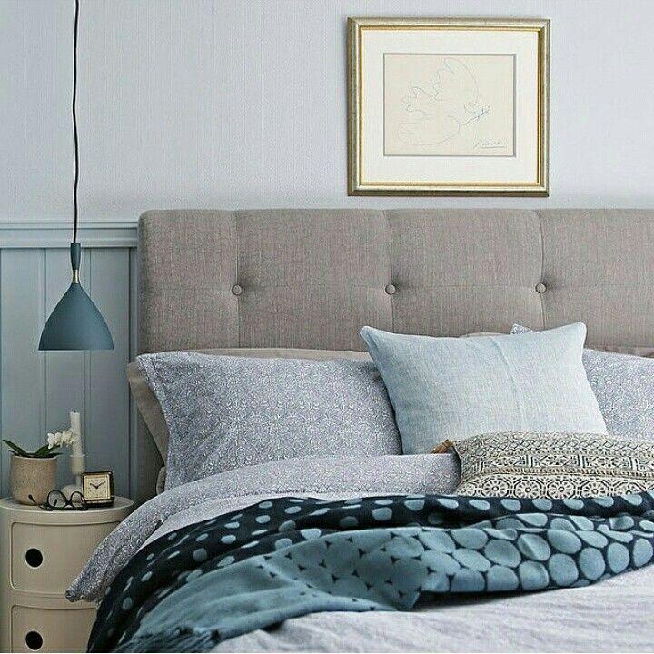 Instagram regram blue bedroom, grey, bedding Beautiful