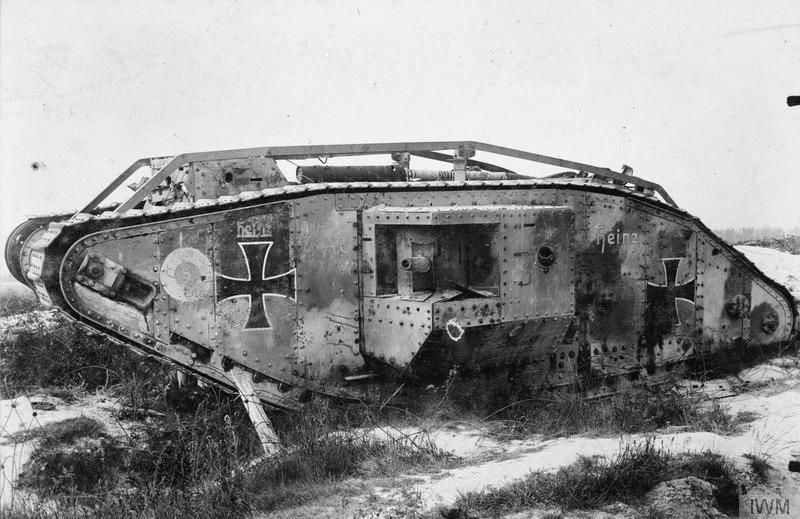 captured british male tank named heinz used by the germans at verdun history wwi. Black Bedroom Furniture Sets. Home Design Ideas