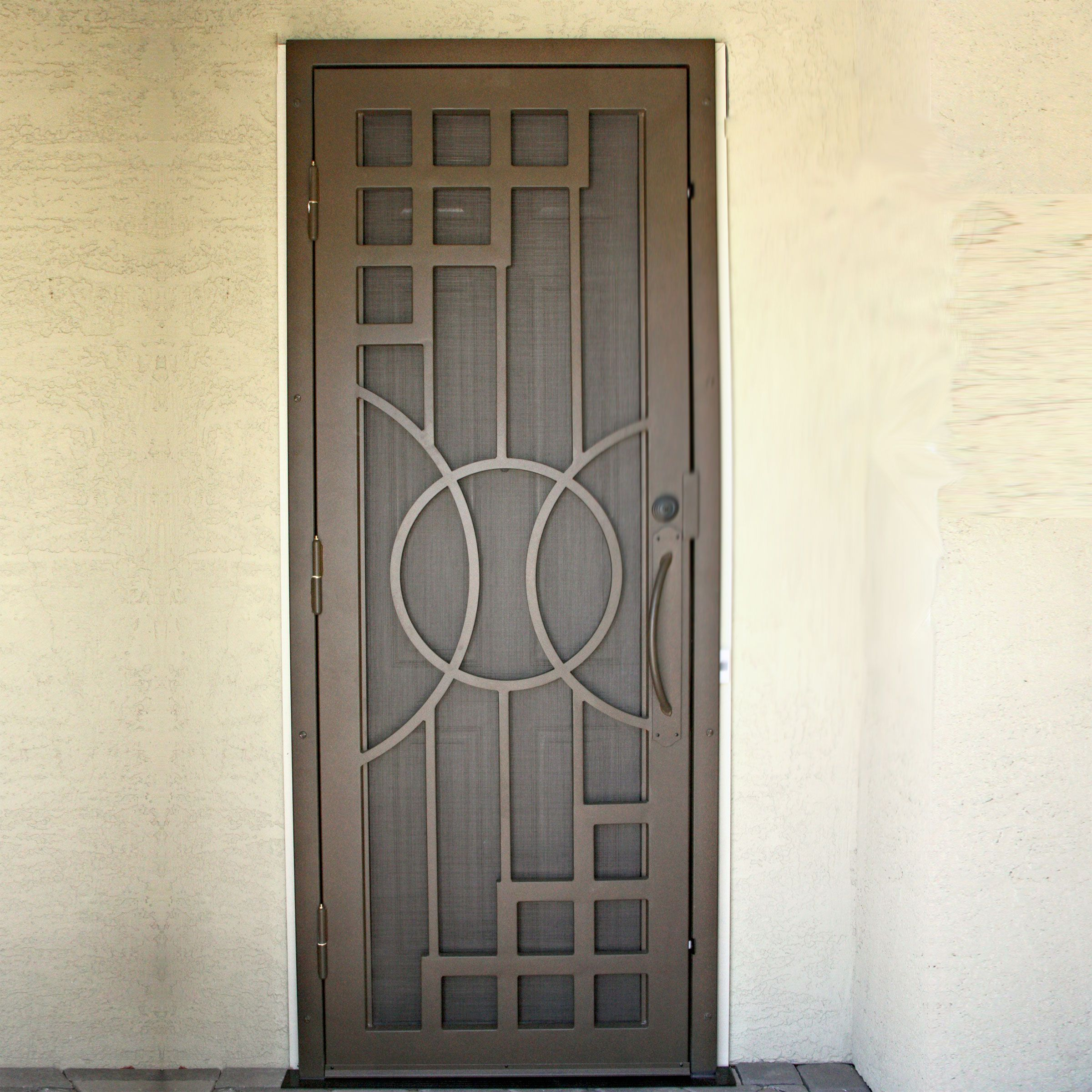 Nouveau First Impression Security Doors With Images Security Screen Door Metal Screen Doors Door Gate Design