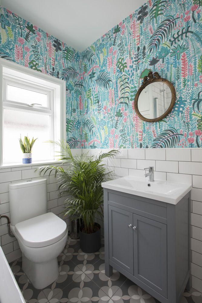 Palm Extra Wide Wallpaper 20m Palm Wallpaper Bathroom
