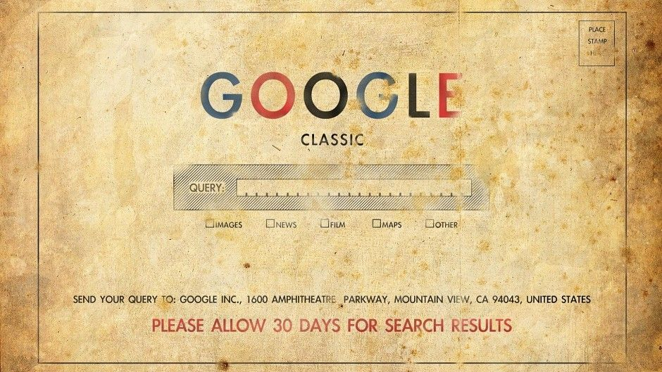 Google Old School 1920 x 1080