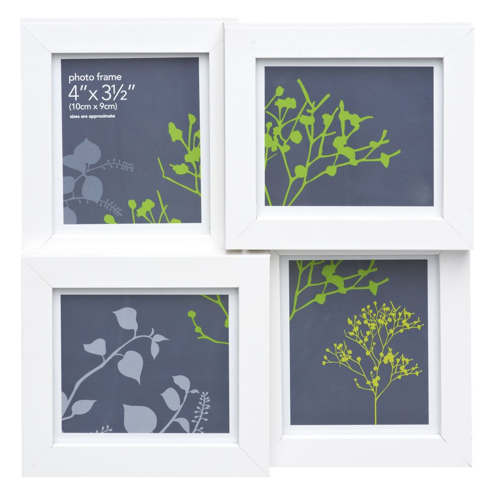 wilko photo frame multi frame white white wood. Black Bedroom Furniture Sets. Home Design Ideas