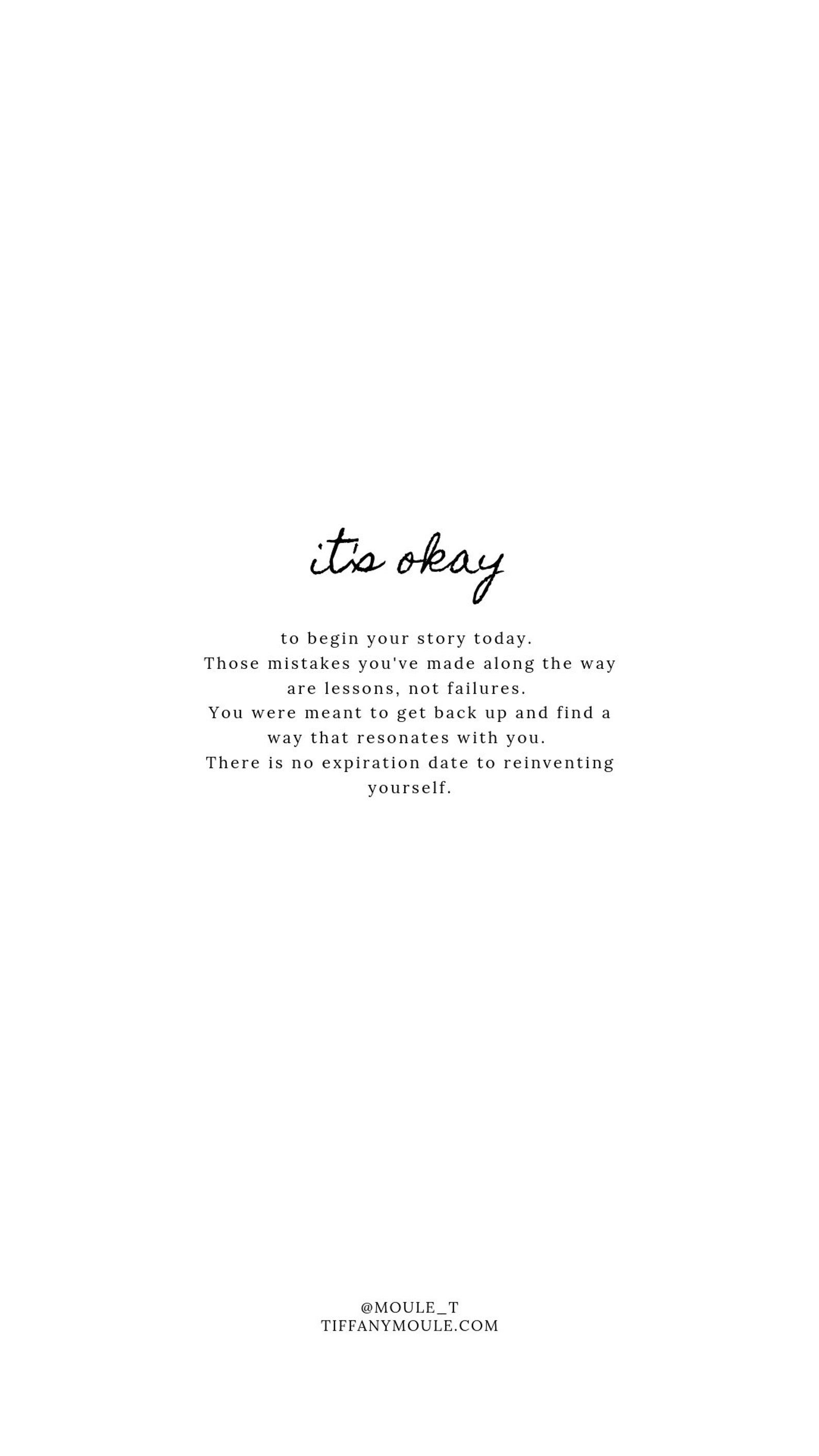 it's okay... Quote by Tiffany Moule