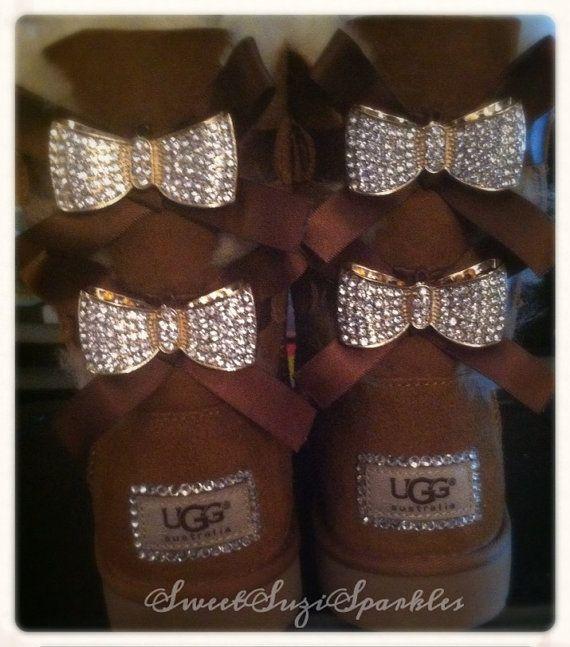 uggs with diamond bows