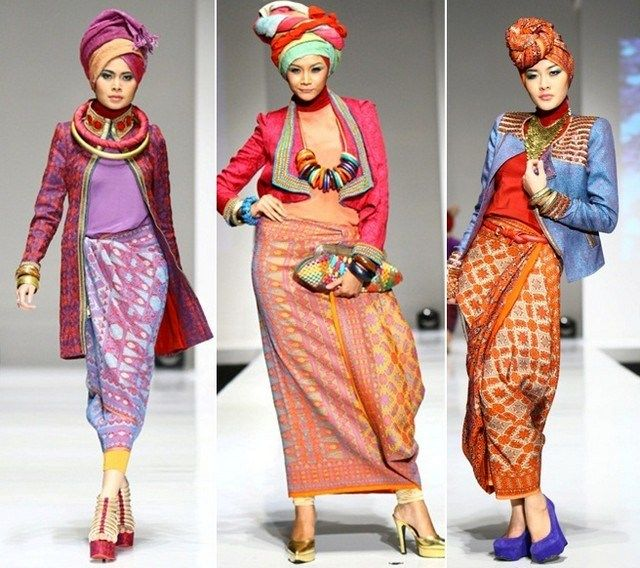 model baju batik muslim terbaru  Batik Dress  Pinterest  Model