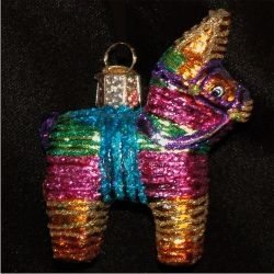 Pinata Mexican Glass Ornament | Glass Christmas Ornaments and Personalized Christmas Ornaments by Russell Rhodes