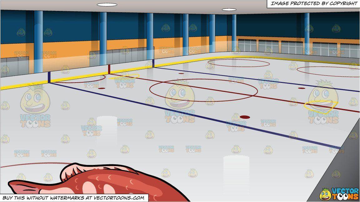 A Red Snapper Fish And Ice Hockey Rink Background Ice Hockey Rink Ice Hockey Hockey Rink
