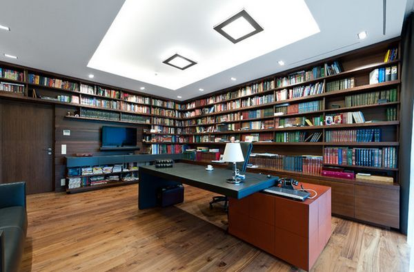 Incroyable If Itu0027s Spacious Enough, A Home Office Can Also Accommodate A Sitting Area  Library Furniture