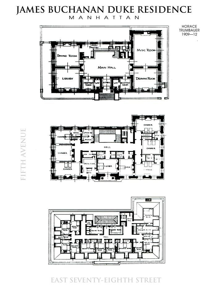 Duke Mansion 1st 2nd And 3rd Floors House Floor Plans