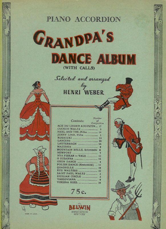 Grandpa S Dance Album Piano Accordion Sheet Music Piano