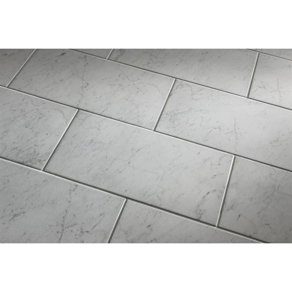 Style Selections 12 In X 24 In Futuro White Porcelain Thinset Mortar Floor And Wall Tile Tile Floor Porcelain Flooring White Porcelain Tile