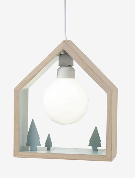 Wooden House Pendant Light GREEN LIGHT 2 COLOR/MULTICOLOR ...