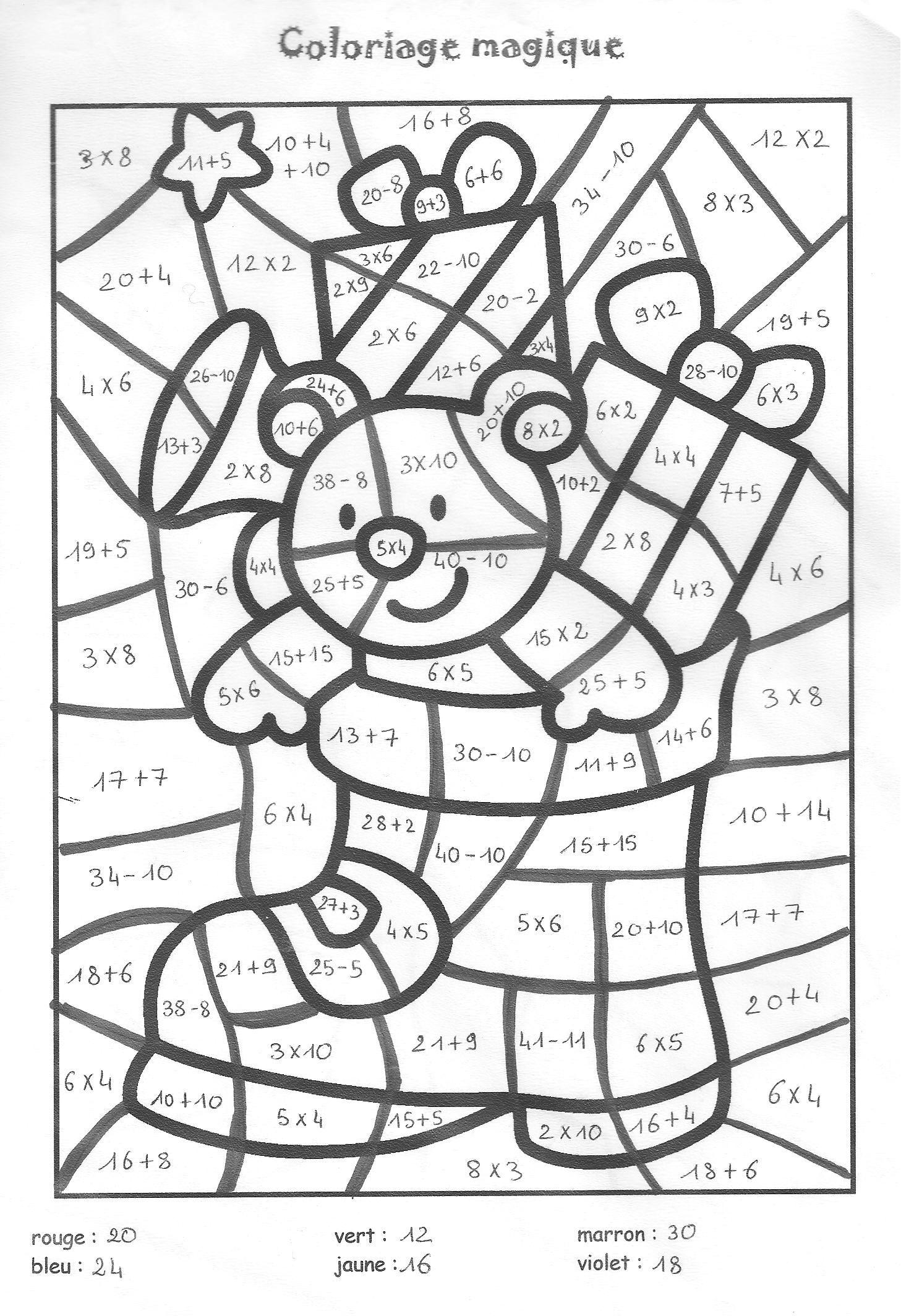 Coloriage magique cm1 colorier dessin imprimer druh ci pinterest math kids rugs a - Coloriage magique pour cm2 ...