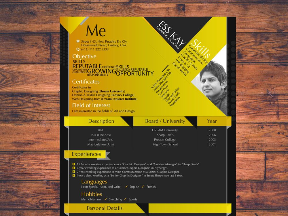 Free Modern Resume Template for Designer Free Resume Templates