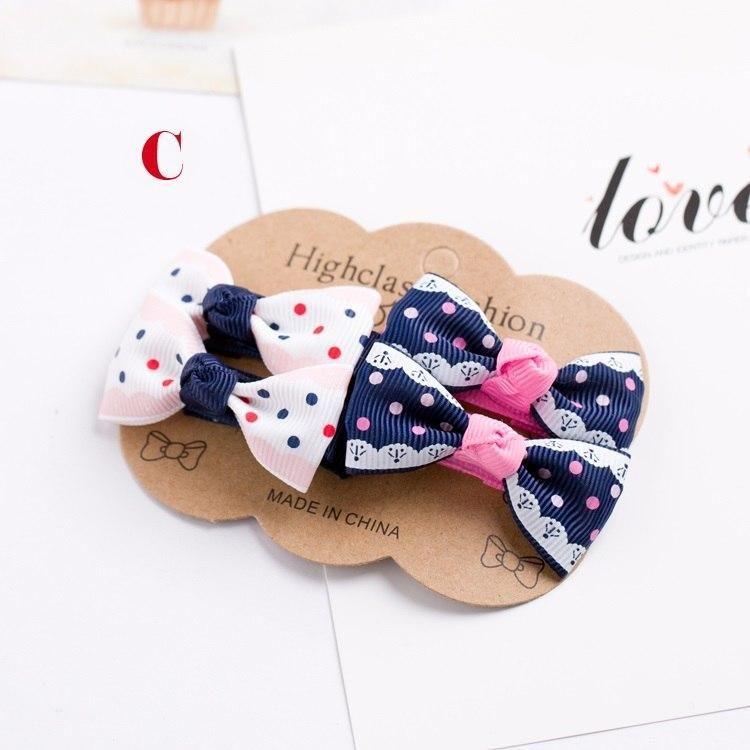 4PCS/lot Newly Design Grosgrain Baby Small Bow Hairpins Girls Hair Accessories Children Hairgrips Kids Hair Clips Mini Headwear #kidshairaccessories