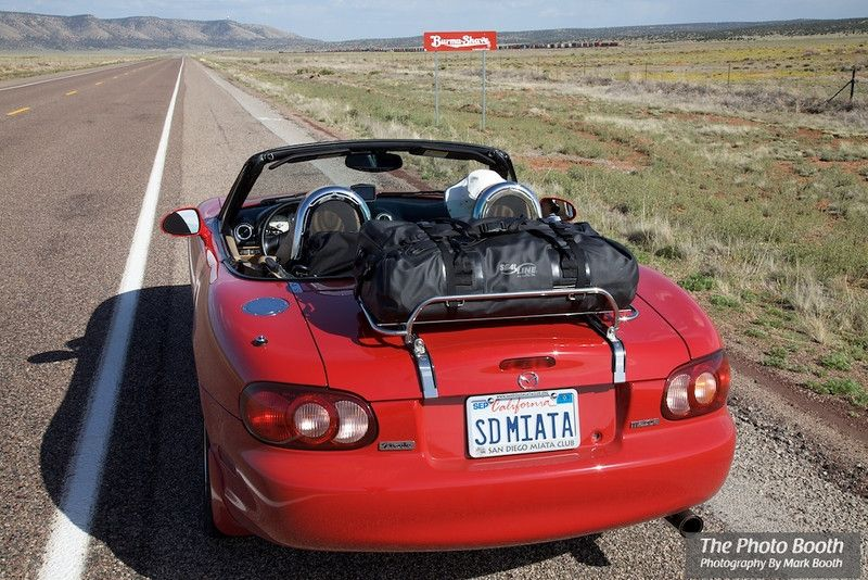 Our dream roadster - it's gotta be red  Luggage Rack Pics