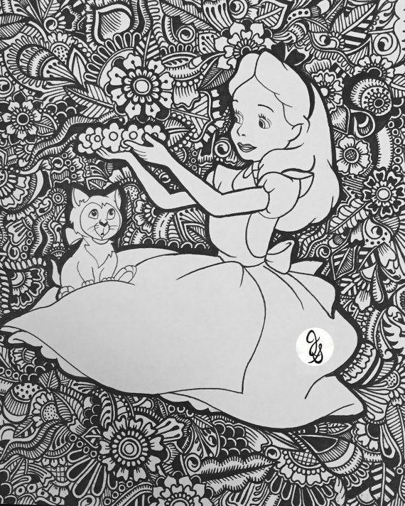 Alicia En El Pais De Las Maravillas De Diseno Por Byjamierose