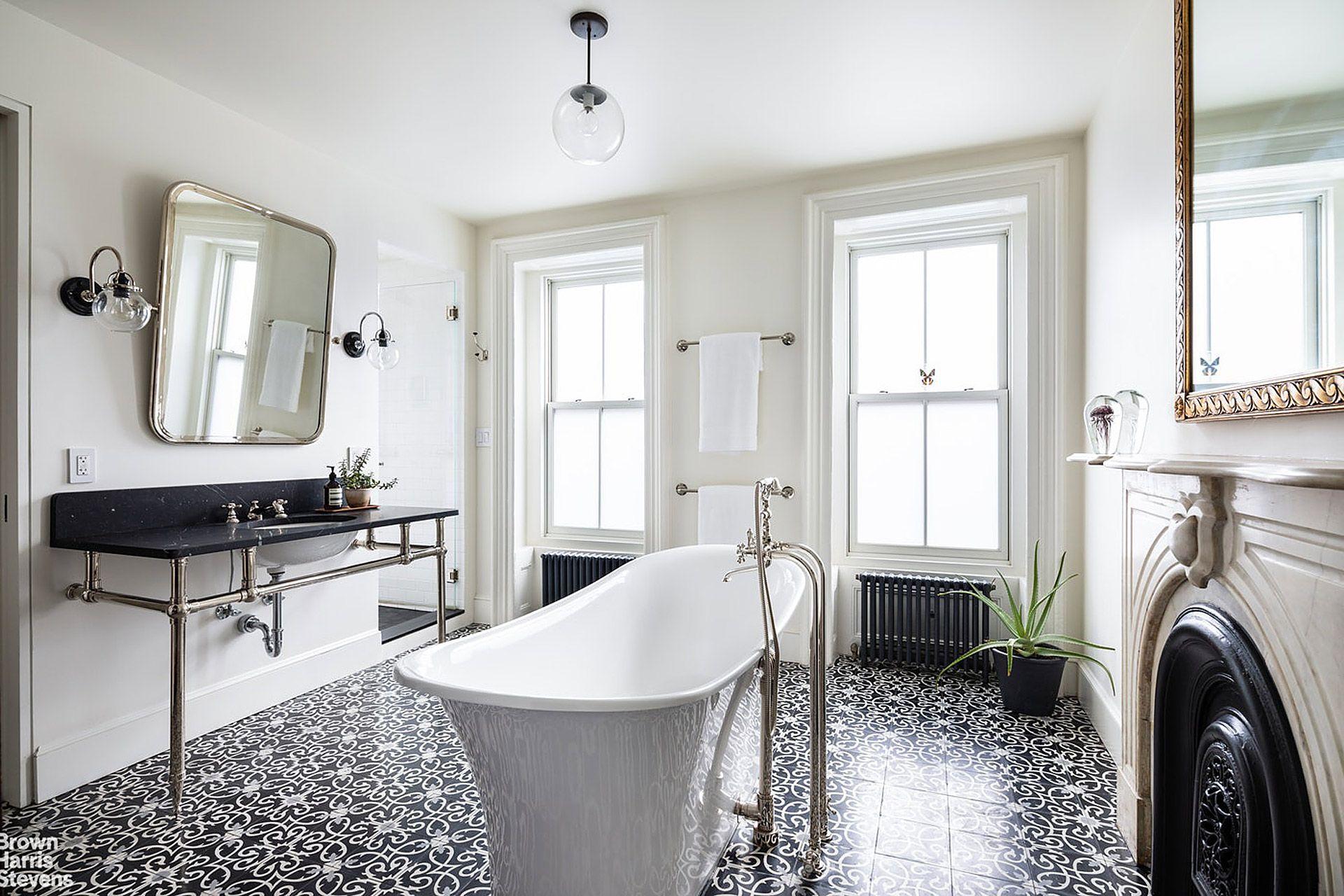 Bergen Street Townhouse Large Bathrooms Brooklyn Brownstone
