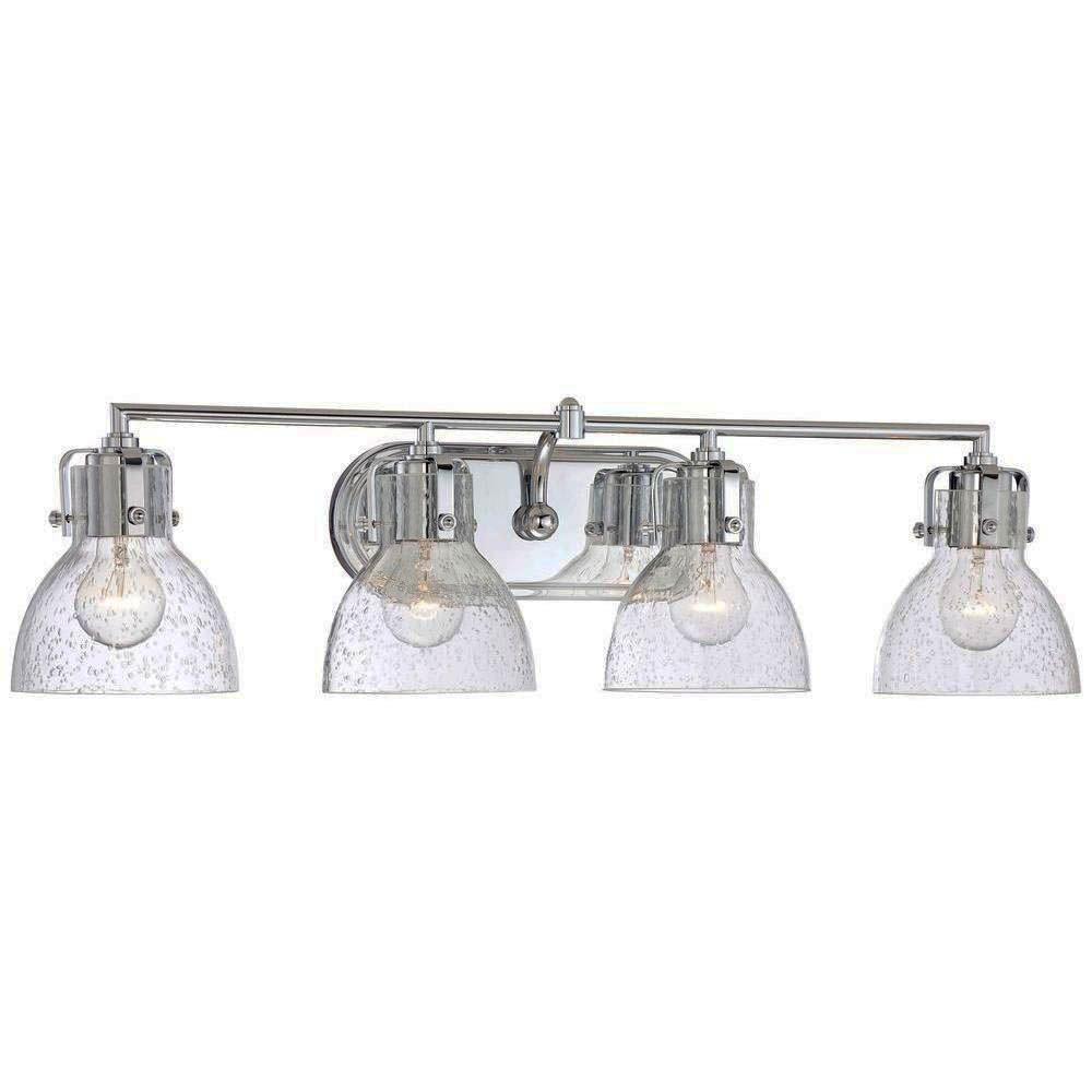 50 Washroom Lighting Ideas For Every Concept Type Zeltahome Com Bathroom Light Fixtures Chrome Bath Vanity Lighting Vanity Lighting