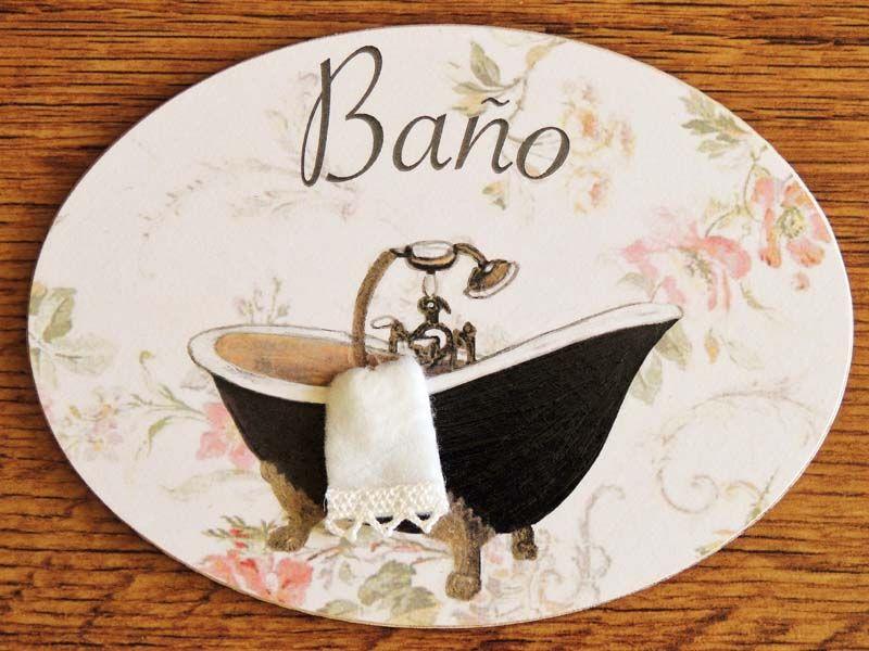 Placa de Baño con una bañera negra sobre un fondo de ...