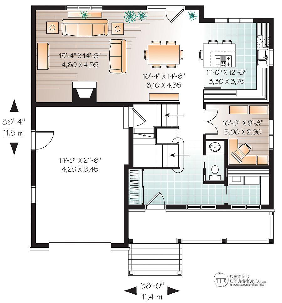 Plan De Mini Et Petite Maison Unifamiliale Dessins Drummond 8
