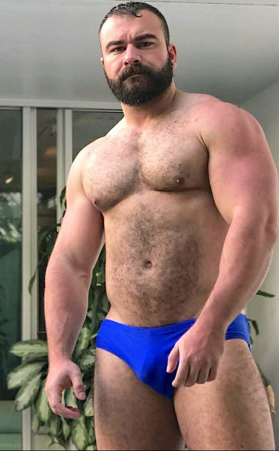 Muscle bear man