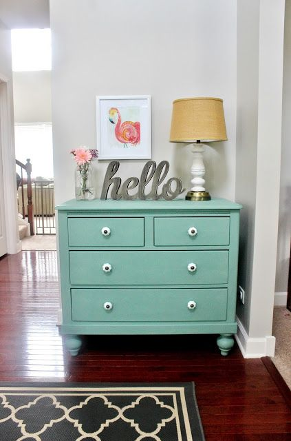 dresser makeover with martha stewarts vintage decor chalk paint - Dresser Decor